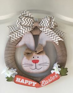 My DIY Easter Wreath for this year. So easy to make using items from the Dollar … My DIY Easter Wreath for this year. So easy to make using items from the Dollar Tree Wreath Crafts, Diy Wreath, Wreath Ideas, Grapevine Wreath, Burlap Wreath, Ribbon Wreaths, Straw Wreath, Bunny Crafts, Easter Crafts