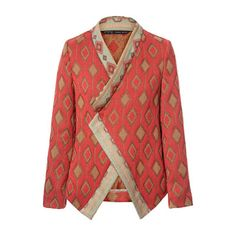 Zara Jacquard Pattern Crossover Blazer and other apparel, accessories and trends. Browse and shop 21 related looks. Batik Blazer, Blouse Batik, Batik Dress, Cardigan Blazer, Zara Blazer, Red Blazer, Blazer Jacket, Mode Batik, Vestidos