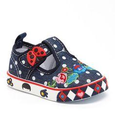 Look what I found on #zulily! Navy Sharon T-Strap Sneaker #zulilyfinds