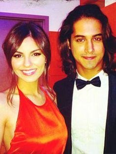 The former rumoured boyfriend and girlfriend couple; Avan Jogia and Victoria Justice