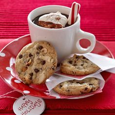 @Midwest Living 36 Classic Christmas Cookies- Hazelnut-Chocolate Chunk Cookies