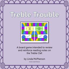 Looking for ways to reinforce reading notes on the treble clef.  Your students will LOVE this board game!