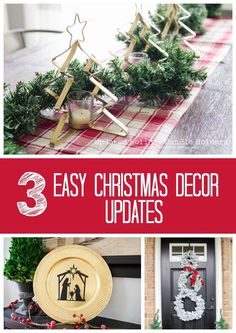 3 Easy DIY Christmas Decor Update craft ideas || Great ideas to reuse and update holiday decorations!