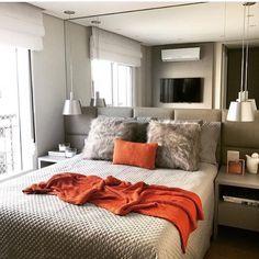 """168 curtidas, 3 comentários - Morando Com Estilo ✨✨ (@morandocomestilo) no Instagram: """"{Inspiração} Estou na vibe decor de quartos hehe  Olhem essa suite da @mnarquitetura que é…"""""""