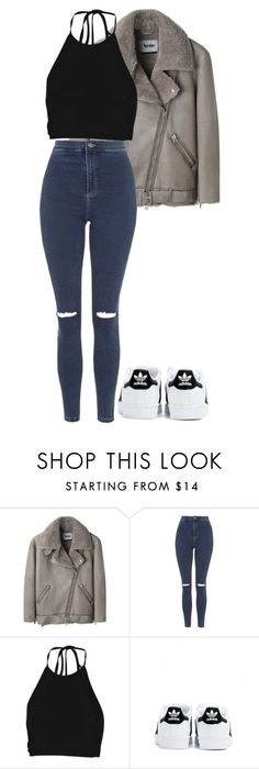 """""""Untitled #1584"""" by elvirasuperman ❤ liked on Polyvore featuring Acne Studios, Topshop, Boohoo, adidas, women's clothing, women, female, woman, misses and juniors"""