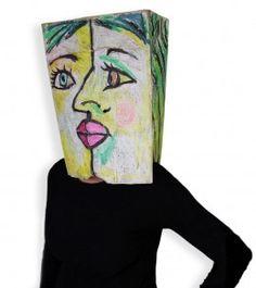 Cubist Paper Bag Costume