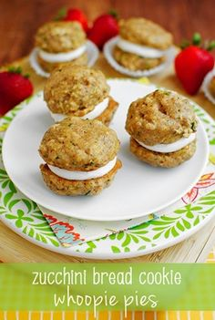 Zucchini Bread Cookie Whoopie Pies | Iowa Girl Eats