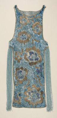 1924 beaded blue evening dress by House of Worth