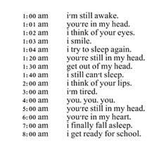 Very accurate for my school days but the best part was I got to see you at school so no worries about being tired ❤