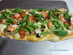 #Pizza vegetal de salmon ahumado #recetas @Recetas Huga