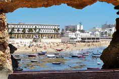 La Caleta II by JIM_PANTANO from http://500px.com/photo/215389923 - La Caleta es una playa situada en el centro histórico de la ciudad de Cádiz (Andalucía España). Fue puerto natural en el que fondearon barcos de fenicios cartagineses y romanos.. More on dokonow.com.
