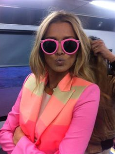 perfect in pink! How cute is she in this jacket?!? Wish I could pull this off