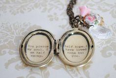 Jane Austen Necklace  Women's Locket