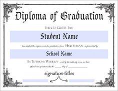 Amazing ... High School Diploma. Certificate Template