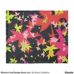 Abstract Leaf design duvet cover