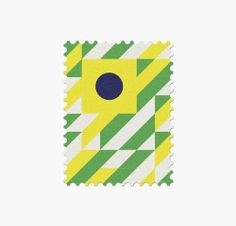 32 World Cup Stamps, Brasil _ Design: Mann
