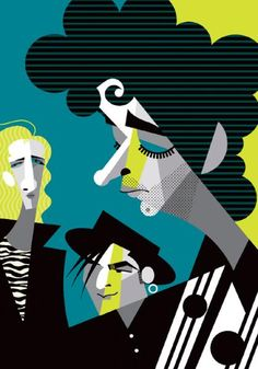 Soda Stereo (by Pablo Lobato) Soda Stereo, Graphic Design Art, Graphic Design Illustration, Illustration Art, Art Pop, Pablo Picasso, Rock And Roll, Rock Argentino, Cultura Pop