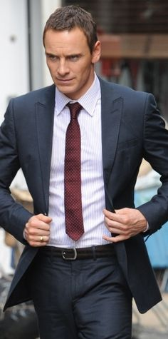 Fassbender in a suit....lingerie as I call it.