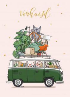 b7253d501e5 Uitnodiging verjaardag op camping met retro caravan kaarten ...