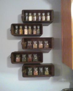 Sewing drawers for spice jar storage