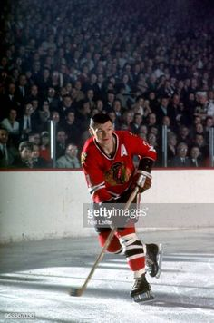 Chicago Blackhawks Stan Mikita in action vs Boston Bruins at Chicago Stadium Chicago IL CREDIT Neil Leifer Blackhawks Hockey, Chicago Blackhawks, Lord Stanley Cup, Neil Leifer, Boston Bruins, Nhl, Gentleman, Legends, Action
