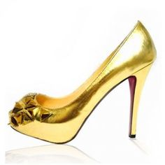Cheap Louboutin Patent Leather Bling Pumps Golden Sale : Christian Louboutin $194.02