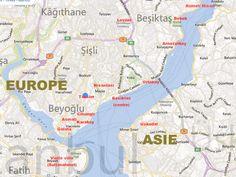 Les différents quartiers d'Istanbul