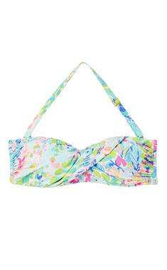 Cay Twist Bandeau Bikini Top in Catch the Wave - TownandCountrymag.com