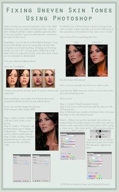 Fixing Uneven Skin Tones by ~Nienna1990 on deviantART