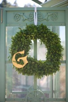 Green Wreaths as Wedding Decorations by holly