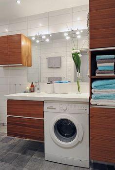Как разместить стиральную машину красиво и удобно даже в маленькой ванной
