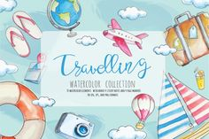 Travelling Watercolor Collection By Shark&Croc co.