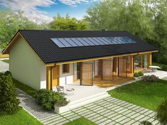 Self Build Houses, Wooden Cabins, Exterior Design, Home Fashion, Building A House, House Plans, Shed, New Homes, Outdoor Structures