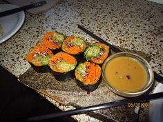 Sushi Sans Rice at The Coup (Calgary, Alberta) Calgary, Sushi, Rice, Vegetarian, Nutrition, Dishes, Eat, Blog, Utensils