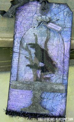 Purple Halloween tag