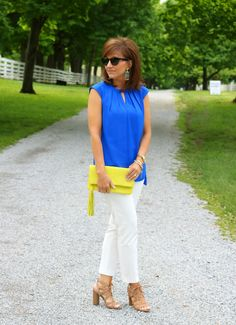 Royal Blue And Yellow Outfit for Spring