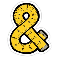 'Ampersand Measuring Tape' Sticker by evannave Pop Stickers, Tumblr Stickers, Kawaii Stickers, Custom Stickers, Dibujos Zentangle Art, Sewing Clipart, Eyes Wallpaper, Bakery Logo Design, Craft Room Decor