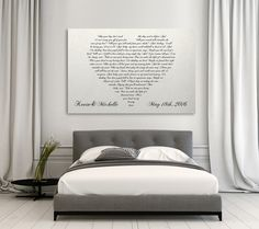Lyrics In A Heart Canvas - Personalized Canvas – Canvas Vows