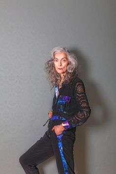 Pattern, print and older model Pam Lucas - That's Not My Age