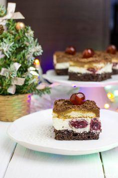 Ciasto wiśnia z makiem Cheesecake, Baking, Cakes, Food, Cake Makers, Cheesecakes, Bakken, Kuchen, Essen