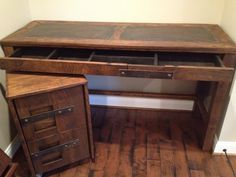 EMILY Custom Steel Top Desk and File Cabinet by toddmanring, $1600.00