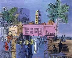 The Casino on the Jetty by Raoul Dufy