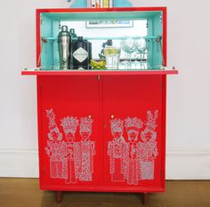 Upcycled Retro Cocktail Cabinet