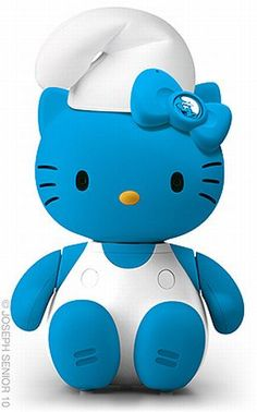 Hello Kitty Smurf