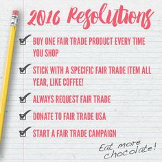 YOU have the power to make the world a better place in 2016! Check out our 5 New Year's Resolutions & enter to #WIN a #FairTrade Gift Pack here: http://fairtrd.us/22O9wqv #giveaway #newyear #resolutions #newyearsresolution #newyears2016