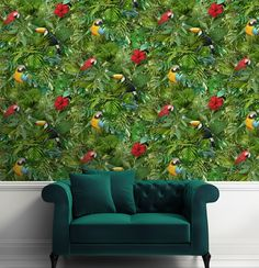 Make your walls a talking point with jungle style wallpaper. What wall in your home would be perfect for this?