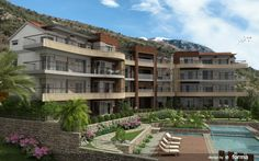 Day View of Tivat Heights, luxury apartments, Montenegro