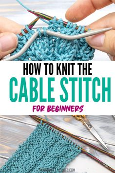 Cable Knitting Patterns, Crochet Blanket Patterns, Knitting Stitches, Beginner Knitting Projects, Knitting For Beginners, Knitting Tutorials, Knitting Ideas, Sewing Projects, Diy Trend