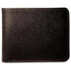 "This Prestige Collection Bi-Fold with Flap is handcrafted from scratch and stain resistant cross-grain Saffian leather and lined with soft American steer hide for strength and flexibility.  Features      Slots for 11 credit cards     An ID window     A double pocket to hold currency     Pockets to hold receipts, notes, etc.     Rounded corners to resist breakage     Your choice of black or brown. Shown in Brown.     Dimensions: 4 1/2"" x 3 1/2""     Metric: 11.4 x 8.9 cm"