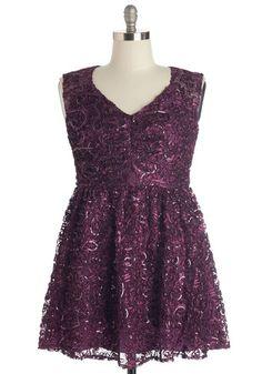 Twinkling at Twilight Dress in Plum | Mod Retro Vintage Dresses | ModCloth.com